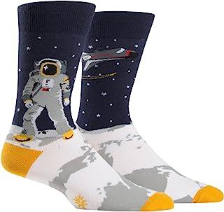 Sock It To Me, tripulación de Calcetines un Astronauta Calcetines Saltando Gigante para Hombres Una Talla le Queda a la mayoría