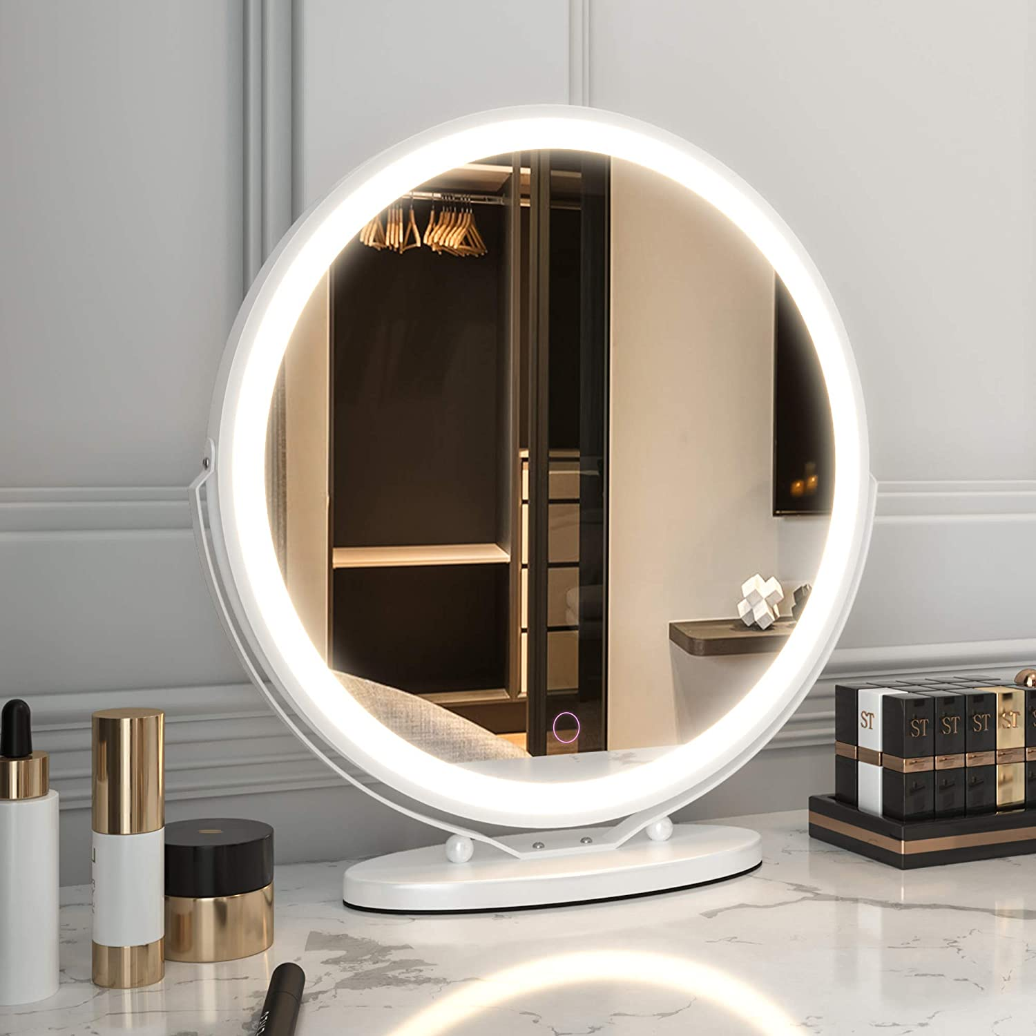 LVSOMT Vanity Makeup All stores are sold Mirror with Dimmab 3 Popular brand Color Lighting Lights