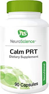 NeuroScience Calm PRT - Rhodiola Adrenal Support Complex for Sleep and Reducing Anxiousness, Cortisol Focused Blend (90 Capsules)