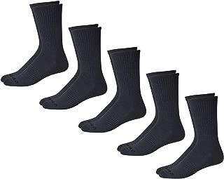 Reebok Men's 5 Pack Athletic Crew Socks, Grey, Size Shoe Size: 6-12.5