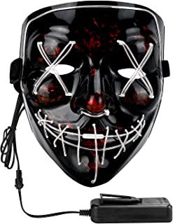 Philonext Halloween Mask LED Light up Mask for Festival Cosplay Halloween Costume Masquerade Parties,Carnival,Gifts