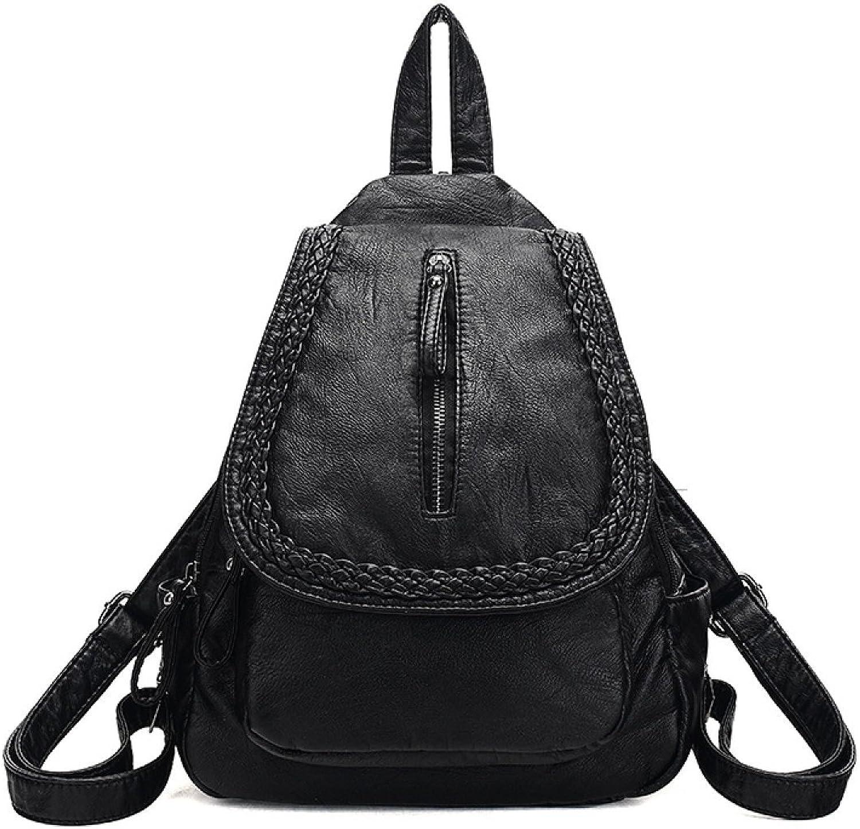 Female Bag Shoulder Bag Chest Bag Black Shoulder Girl Student Multipurpose Shopping Travel School Bag,BlackOneSize