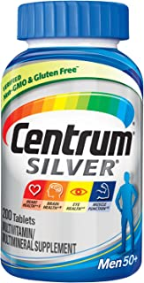 Centrum Silver Men (200 Count) Multivitamin / Multimineral Supplement Tablet, Vitamin D3, Age 50+