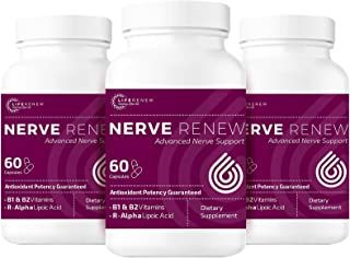 Life Renew: All-Natural Neuropathy Support Supplement with Stabilized R-Lipoic Acid - Absorbs Fast - Altern...