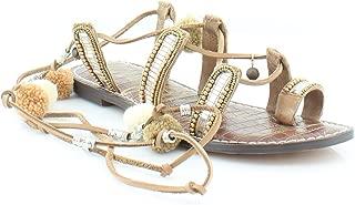 GRACIELA Women Strappy Sandals (6 M, SADDLE LEA)