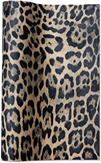 Meneng Leopard Printed Fabric Faux DIY Sheet Canvas Back Size