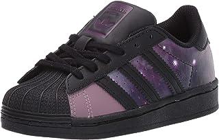 adidas Originals Kids' Superstar C Sneaker, Black