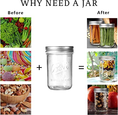 6 Pack Mason Jars 16 OZ, OAMCEG Mason Jar Cups with Lids and Straws, 100% Recycled Sipper Drinking Glasses/Jars/Mugs for Regu