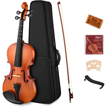 Eastar 4/4 Violin Set Full Size Fiddle EVA-2 for Kids Beginners Students with Hard Case, Rosin, Shoulder Rest, Bow, and Extra Strings (Imprinted Finger Guide on Fingerboard)