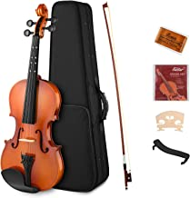 Eastar EVA-2 4/4 Violin Set Full Size Fiddle for Kids Beginners Students with Hard Case, Rosin, Shoulder Rest, Bow, and Extra Strings (Imprinted Finger Guide on Fingerboard)