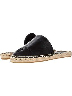 토리버치 슬리퍼 Tory Burch Color-Blocked Flat Espadrille Slide,Perfect Black/Perfect Black