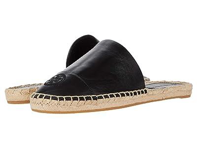 Tory Burch Color-Blocked Flat Espadrille Slide (Perfect Black/Perfect Black) Women