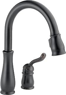 Delta 978-RBWE-DST Leland Single Handle Water Efficient Pull-Down Kitchen Faucet, Venetian Bronze