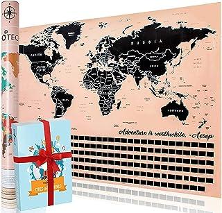 TIROTECHS Scratch Off Map - New Scratch Off World Map -Best Scratch Off Map of The World - Scratch Map - World Map Scratch...