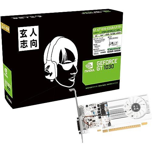 1位:玄人志向 NVIDIA GeForce GT 1030 搭載 グラフィックボード 2GB シングルファンモデル GF-GT1030-E2GB/LP/D5(画像は『Amazon.co.jp』から引用)