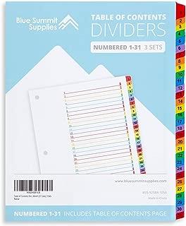 8 tab dividers for binders