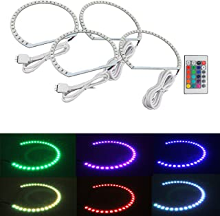 Syneticusa Multi-Color RGB LED Angel Eye Halo Rings for E39 E46 3 5 7 Series Headlight