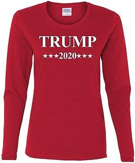 Trump 2020 MAGA Women's Long Sleeve Tee President Republican Political