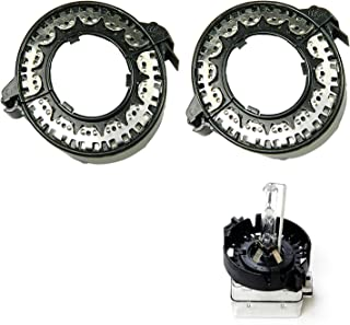 x xotic tech D1S D3S HID Bulbs Holders Clip Rings Retainers for BMW Mercedes Cadillac, etc
