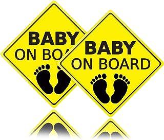 2 stücke Baby an Bord Aufkleber für Auto,Autoaufkleber Selbstklebend Einfach zu installieren Wasserdicht