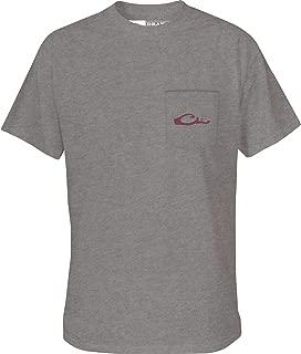 Drake Men's Vintage Logo T-Shirt Short Sleeve Cotton Graphite Heather XL