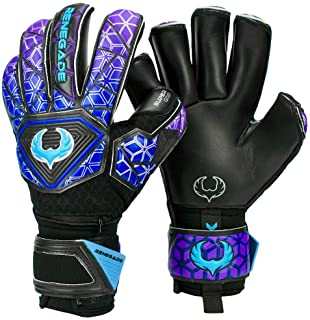 Renegade GK Vortex Goalie Gloves (Sizes 6-11, 4 Cuts, Lvl 3) - Amazing All-Around Goalkeeper Glove, Exceptional Value - German Hyper Grip Palms & 6D Super Mesh - 30 Day Guarantee