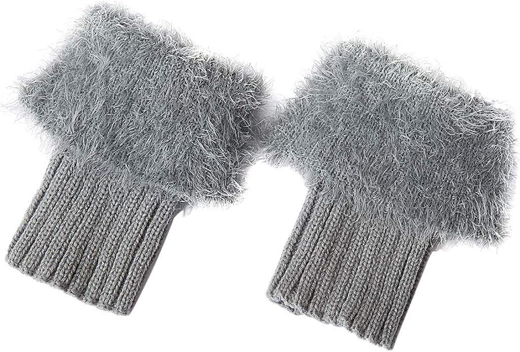 Bonarty Womens Crochet Boot Cuffs Knitted Faux Fur Toppers Boot Socks Leg Warmers