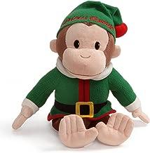 GUND Curious George Elf Holiday Monkey Stuffed Animal Plush, 12