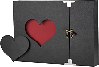 Scrapbook Firbon Handmade DIY Family Album with Bonus Gift Box for Christmas, Valentine's Day, Birthday and Homecoming (Black)