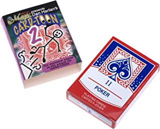 Dophee 1Set Magic prop Trick Deck Pack Bar Playing Card Toon Mental Animation Prediction