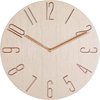 Wall Clock, 14 Inch Retro Silent Non-Ticking Classic Wall Clock, Decorative Round Wall Clock, for Living Room, Kitchen, Ho...