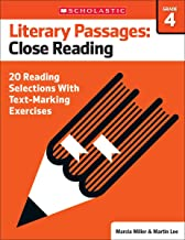 Literary Passages: Close Reading: Grade 4: 20 Reading Selections With Text-Marking Exercises