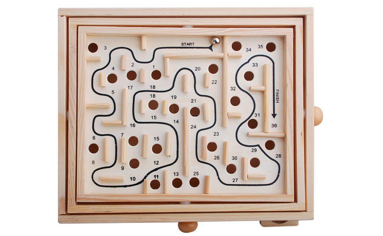 Juego de puzle de laberinto para niños de madera 3D, juguetes educativos 27.5x23x6cm Wooden: Amazon.es: Hogar