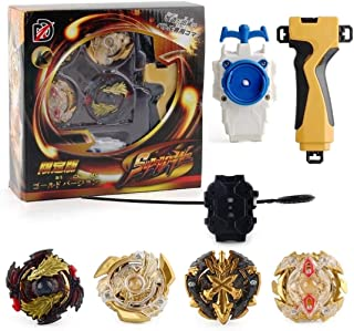 Bey Battle Burst Gyro Set- Top Battling Lost Longinus / Xeno Xcalibur / Victory Valkyrie / Zillion Zeus with Battle Stadium & Launcher
