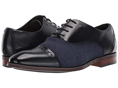 Stacy Adams Barrington Cap Toe Lace Up Oxford (Navy) Men