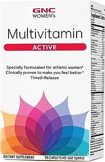 GNC Women's Ultra Mega Active Multivitamin, 90 Caplets, Supports Active Women