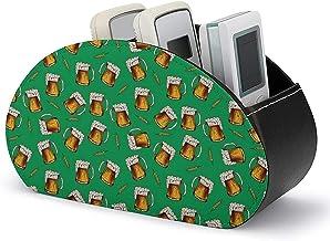 Caddie à distance en cuir - Boîte de rangement pour support de télécommande TV avec 5 compartiments - Stockage et organisa...