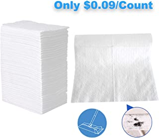 "UCLEAN Dry Mop Refills Sweeper Disposable Dusting Cloths Dry Sweeping Refills Dry Duster Cloths Mop Pads Floor Cloth Refills Electrostatic Cloths 160 Count 7.9""x11.6"""