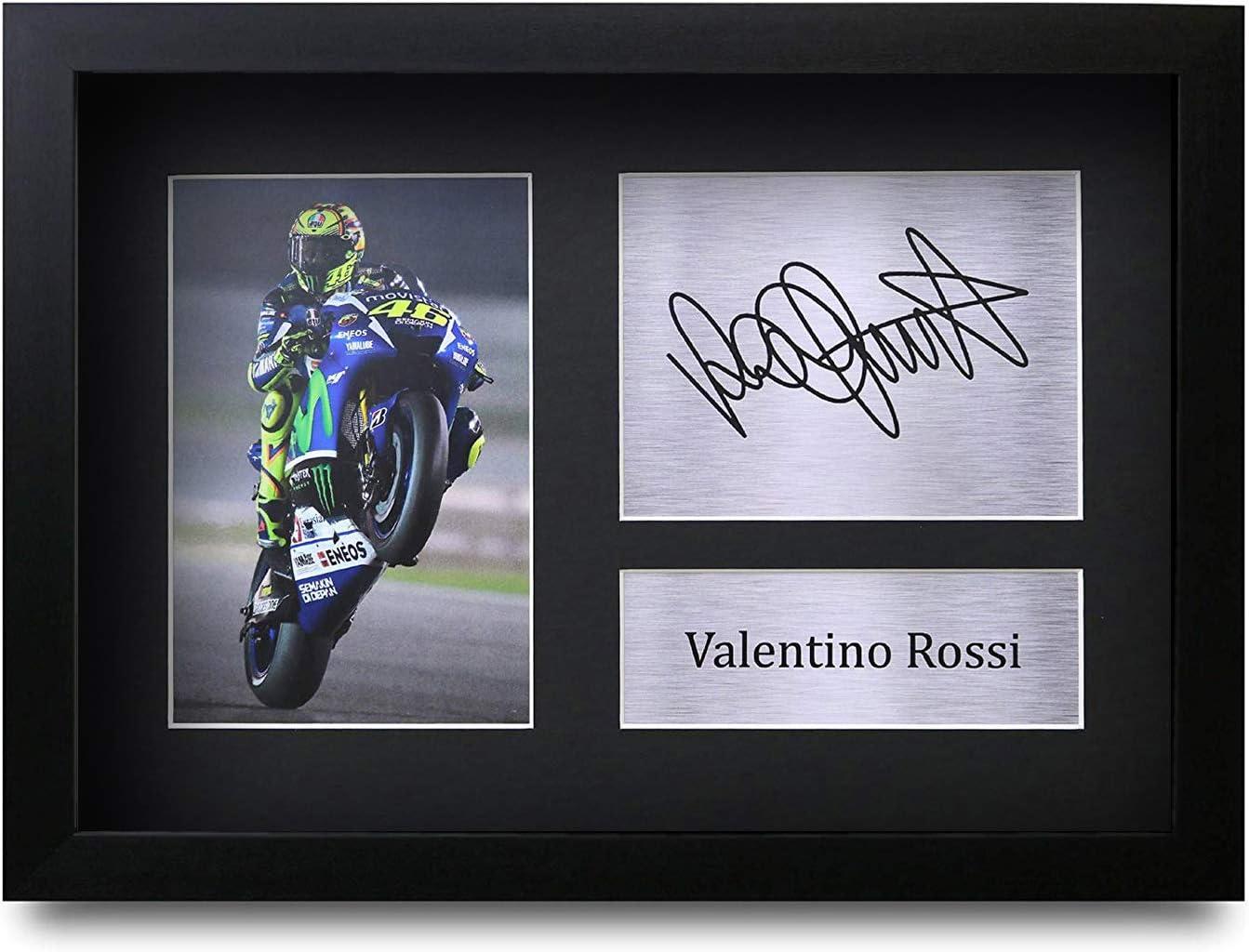 HWC Trading Valentino Rossi A4 Unframed Sign/é Image Autographe Imprim/é Impression Photo Cadeau DAffichage pour Superbikes Ventilateurs Motogp