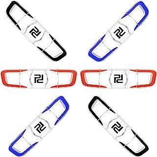 Gejoy 6 Pieces Tennis Vibration Dampener Tennis Racket Shock Absorber Soft Silicon Racket Dampener Long Tennis Dampener Ra...