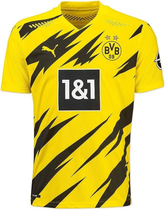 PUMA Maglia Ufficiale Stagione 20/21 Home Authentic Borussia Dortmund BVB_ T-Shirt Uomo