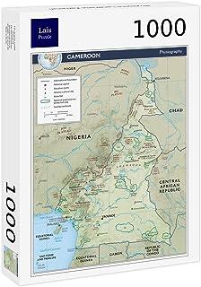 Lais Puzzle Mapa Físico Camerún 1000 Piezas