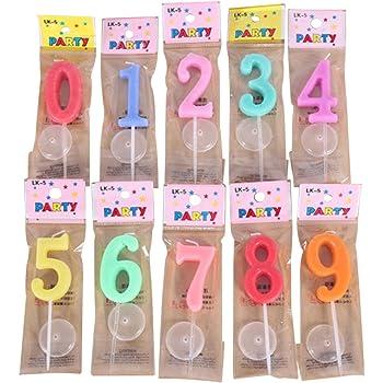 お誕生日キャンドル キャンドル バースデイ 0~9 (各数字1個セット(計10個セット))