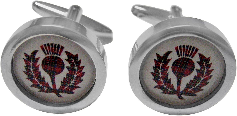 Kiola Designs Red Scottish Thistle Cufflinks