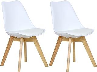 WOLTU 2 Chaises de Salle à Manger Cuisine/Salon chaises,Design en Similicuir et Bois..