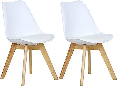 DuNord Design New Stockholm - Juego de 4 sillas de Comedor (Piel ...