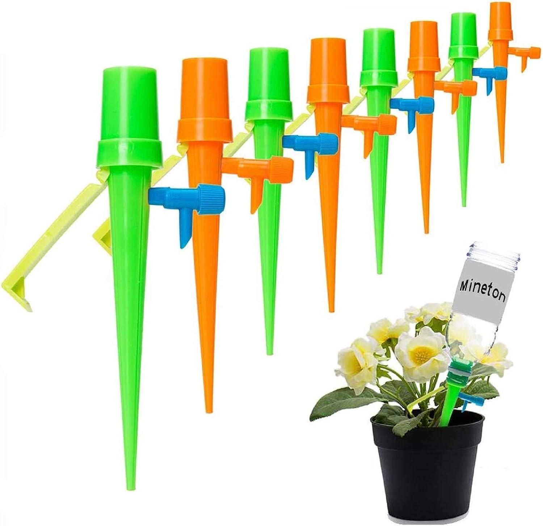 [Nuevo actualizado]Minetom Sistema de Riego Automático Kit de 24 Piezas Riego por Ggoteo Sistema de Irrigación para Bonsáis y Flores, Ideal Dispositivo de Irrigación Automático en Vacaciones