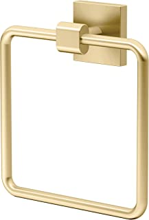 Gatco 4062 Elevate Towel Ring, Brushed Brass