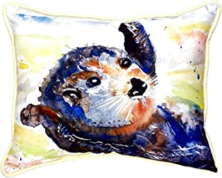 "Betsy Drake SN210 Otter Small Indoor/Outdoor Pillow, 11"" x14"""
