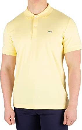 Lacoste de los Hombres Camisa Polo, Amarillo, L: Amazon.es: Ropa